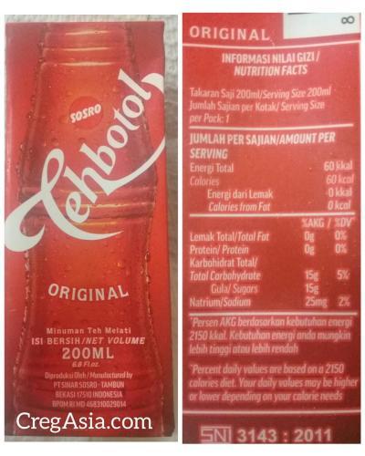 Teh Botol Sosro (Kotak)